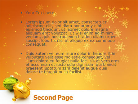 Decorations Of New Year PowerPoint Template Slide 2