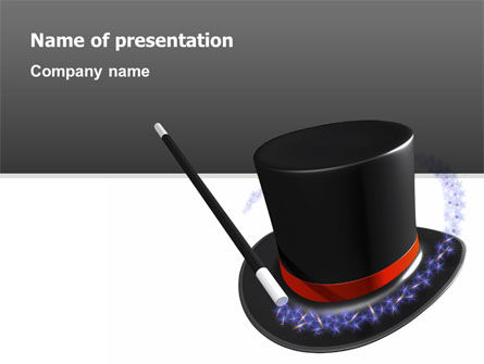 Holiday/Special Occasion: Magic Wand PowerPoint Template #02887