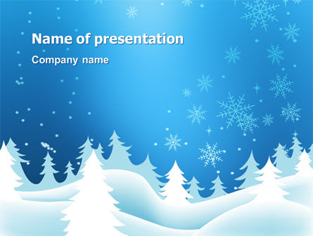 forest snow powerpoint template, backgrounds | 02888, Powerpoint templates