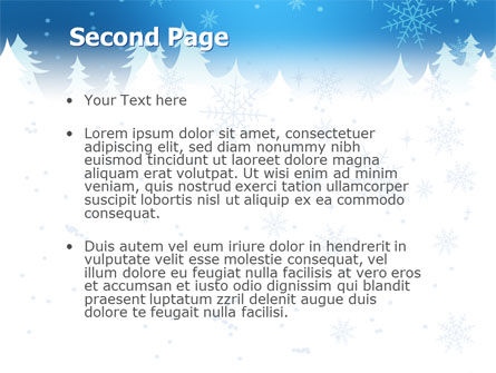 Forest Snow PowerPoint Template, Slide 2, 02888, Holiday/Special Occasion — PoweredTemplate.com