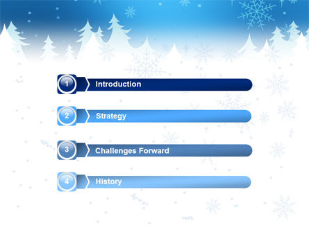 Forest Snow PowerPoint Template, Slide 3, 02888, Holiday/Special Occasion — PoweredTemplate.com