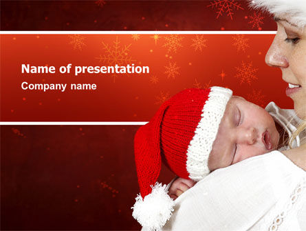 Christmas Child Free PowerPoint Template, 02890, People — PoweredTemplate.com