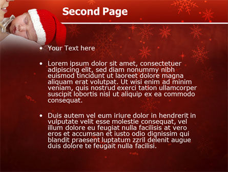 Christmas Child Free PowerPoint Template, Slide 2, 02890, People — PoweredTemplate.com