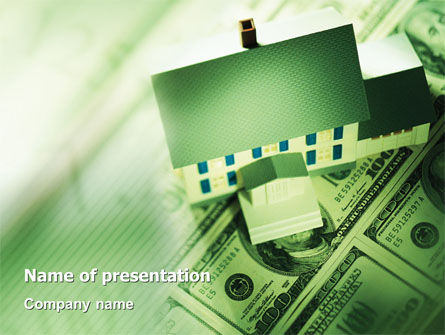 Mortgage On The House PowerPoint Template