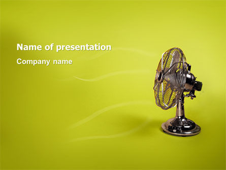 Ventilator On Light Olive Background PowerPoint Template