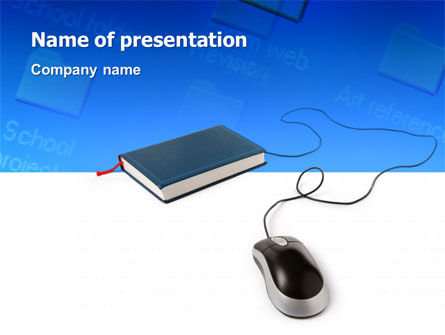 Internet Libraries PowerPoint Template, 02894, Education & Training — PoweredTemplate.com
