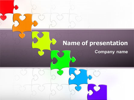 Business Concepts: Fancy Jigsaw PowerPoint Template #02895