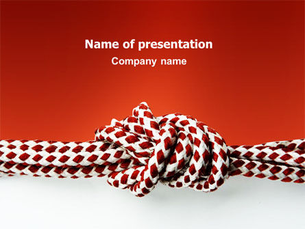 Business Concepts: Knot On The Red Background PowerPoint Template #02896