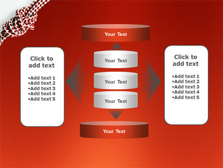 Knot On The Red Background PowerPoint Template Slide 13