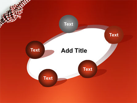Knot On The Red Background PowerPoint Template Slide 14