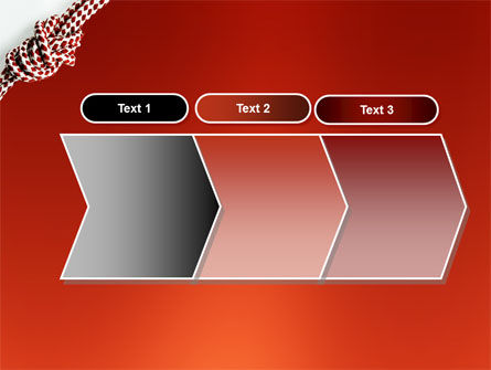 Knot On The Red Background PowerPoint Template Slide 16
