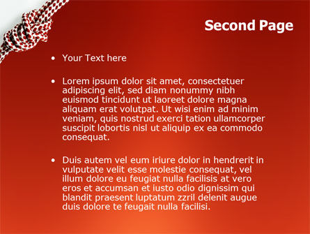 Knot On The Red Background PowerPoint Template Slide 2