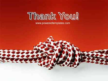 Knot On The Red Background PowerPoint Template Slide 20
