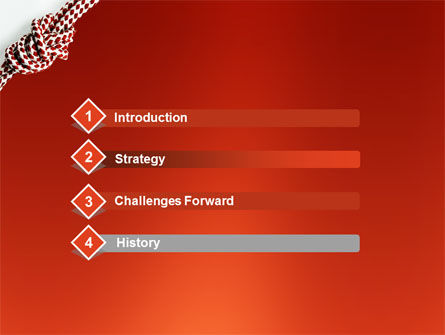 Knot On The Red Background PowerPoint Template Slide 3