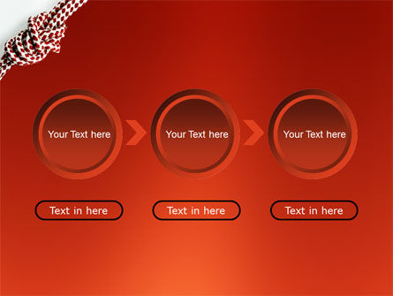 Knot On The Red Background PowerPoint Template Slide 5