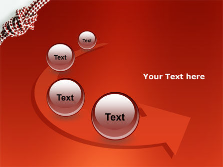 Knot On The Red Background PowerPoint Template Slide 6