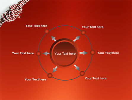 Knot On The Red Background PowerPoint Template Slide 7