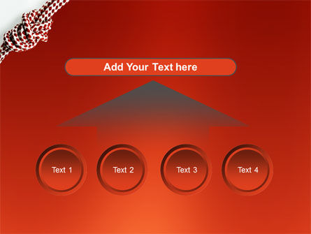 Knot On The Red Background PowerPoint Template Slide 8