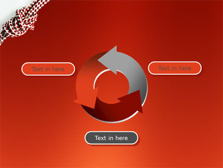 Knot On The Red Background PowerPoint Template Slide 9