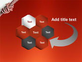 Knot On The Red Background PowerPoint Template#11