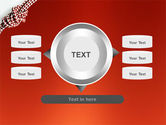 Knot On The Red Background PowerPoint Template#12