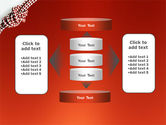 Knot On The Red Background PowerPoint Template#13