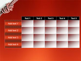 Knot On The Red Background PowerPoint Template#15