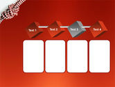 Knot On The Red Background PowerPoint Template#18