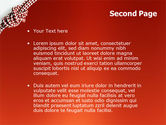 Knot On The Red Background PowerPoint Template#2