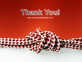 Knot On The Red Background PowerPoint Template#20