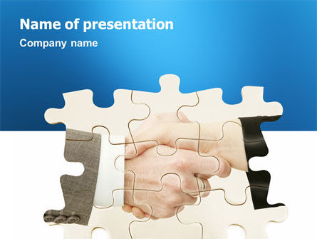 Partnership PowerPoint Template, 02899, Business — PoweredTemplate.com