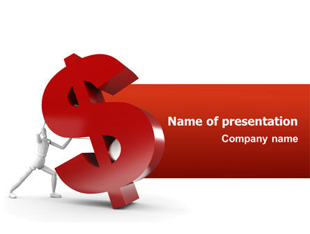 Financial/Accounting: Dollar Rising PowerPoint Template #02902