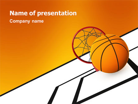 Basketball Powerpoint Template Backgrounds