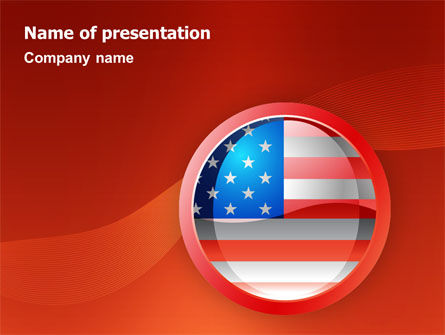 Flags/International: US Flag PowerPoint Template #02905