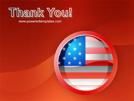 US Flag PowerPoint Template Slide 20