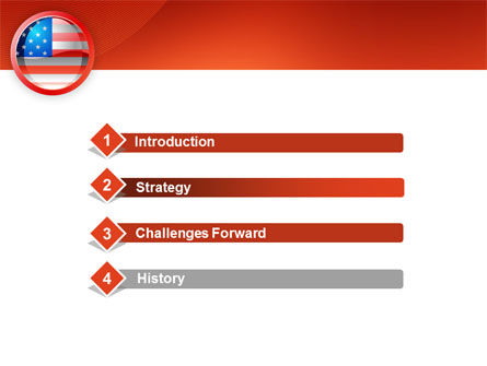 US Flag PowerPoint Template Slide 3