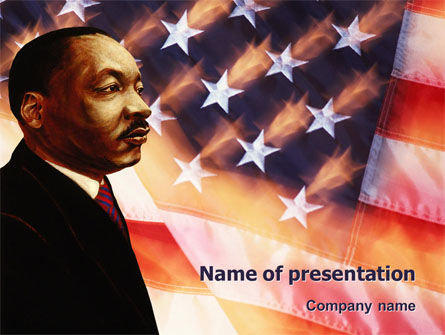 Holiday/Special Occasion: Plantilla de PowerPoint - martin luther king #02907