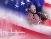 America: Martin Luther Speech PowerPoint Template #02909