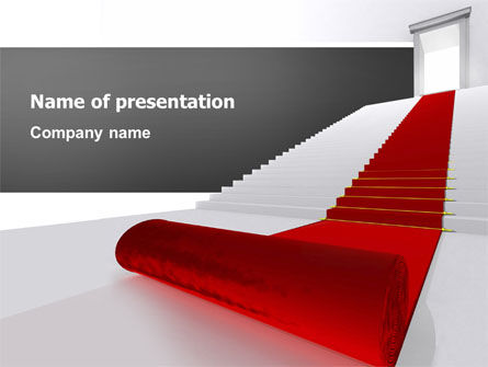 Red Carpet PowerPoint Template, 02912, Consulting — PoweredTemplate.com