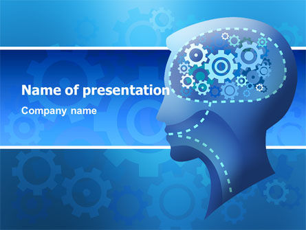 Mentality PowerPoint Template, 02913, Technology and Science — PoweredTemplate.com