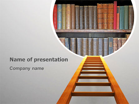 Education & Training: Road to Knowledge PowerPoint Template #02917