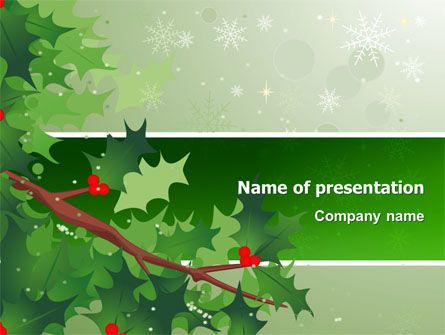 Holiday/Special Occasion: Hemlock PowerPoint Template #02919