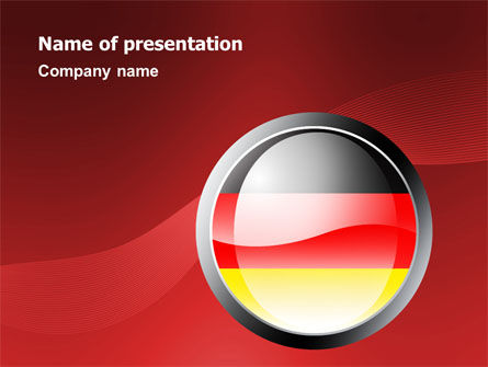 Germany Sign PowerPoint Template, 02920, Flags/International — PoweredTemplate.com