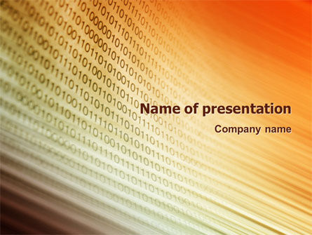 Abstract Computer PowerPoint Template, 02921, Technology and Science — PoweredTemplate.com