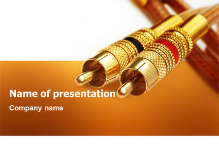 RCA Connector PowerPoint Template, 02922, Technology and Science — PoweredTemplate.com