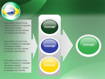 Brazil Sign PowerPoint Template Slide 11