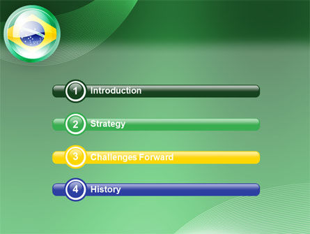 Brazil Sign PowerPoint Template, Slide 3, 02926, Flags/International — PoweredTemplate.com