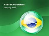 Flags/International: Brazil Sign PowerPoint Template #02926