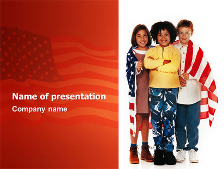 Holiday/Special Occasion: American Children PowerPoint Template #02928