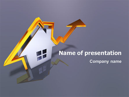 Real Estate: Immobilienpreis PowerPoint Vorlage #02929